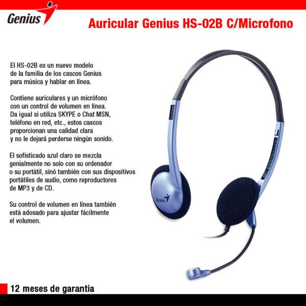 Genius HS-02B c/Mic
