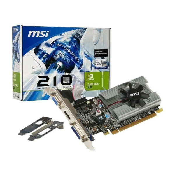 PLACA VIDEO MSI GEFORCE 210 1GB LP DDR3 HDMI DVI DSUB