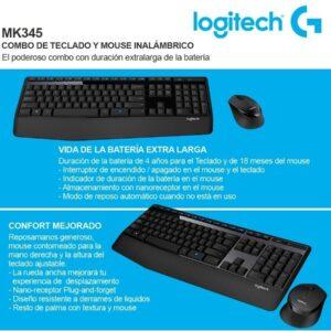 Combo  Teclado+mouse Inalambrico  Logitech Mk 345