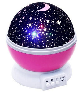 Lampara Velador Proyector Estrella Luna Luz Rgb 360 Usb