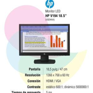 Monitor Hp 18.5 Pulgadas P19b G4 Wxga Hd DVI Vga